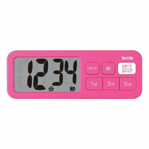 送料無料 TANITA タニタ デジタルタイマー でか見えプラスタイマー TD-395 ピンク 【RCP】【TD-395-PK】【CP】