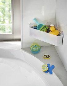 送料無料 吸盤バスルームコーナーおもちゃラック ミスト MIST ホワイト 【RCP】【BT-CG WH 4726】【CP】