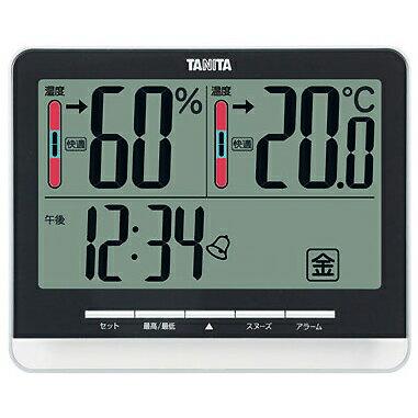 タニタ デジタル温湿度計(置き・掛け両用タイプ)【RCP】【TT-538-】【WH BK】