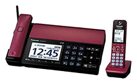 【中古】パナソニック おたっくす デジタルコードレスFAX 子機1台付き スマホ連動 Wi-Fi搭載 ボルドーレッド KX-PD102DL-R