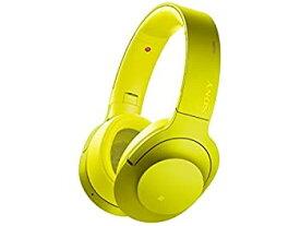 【中古】ソニー SONY ワイヤレスノイズキャンセリングヘッドホン h.ear on Wireless NC MDR-100ABN : Bluetooth/ハイレゾ対応 マイク付き ライムイエロー