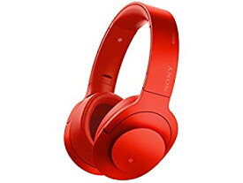 【中古】ソニー SONY ワイヤレスノイズキャンセリングヘッドホン h.ear on Wireless NC MDR-100ABN : Bluetooth/ハイレゾ対応 マイク付き シナバーレッド