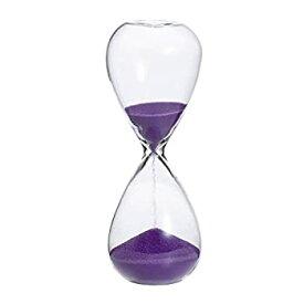 【中古】廣田硝子 ガラス製 スナ式トケイ 5分計 紫色 ST-5