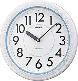【中古】MAG(マグ) 掛け時計 非電波 アナログ アクアガード 直径27.8cm 防塵 防水仕様 IP67 ホワイト W-662WH-Z