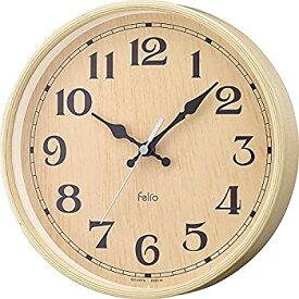 【中古】Felio(フェリオ) 壁掛け時計 フロレスタ 置き掛け兼用 連続秒針 ナチュラル FEW185N-Z
