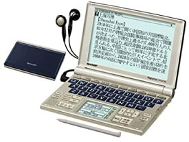 【中古】シャープ 音声対応・タイプライターキー配列電子辞書 グレースバイオレット PW-AT780V
