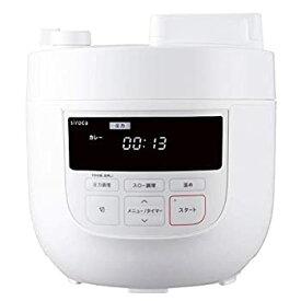 【中古】シロカ 電気圧力鍋 SP-4D151 ホワイト [1台6役(圧力・無水・蒸し・炊飯・スロー調理・温め直し)/大容量4Lモデル]