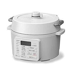 【中古】アイリスオーヤマ 電気圧力鍋 2.2L 2WAYタイプ グリル鍋 6種類自動メニュー ホワイト PC-MA2-W