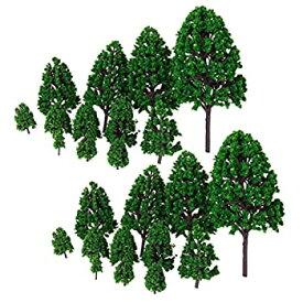 【中古】ノーブランド品 24本 1/50 モデルの木 建築 列車模型 風景の飾り グリーン 多サイズ