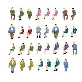 【中古】ノーブランド品 1/50 約100体 着席人形 塗装人 フィギュア 模型用 建築模型 装飾