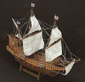 【中古】木製帆船模型 1/50 ゴールデンハインド リニューアル版 ウッディジョー