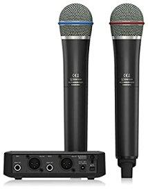 【中古】Behringer ベリンガー 2.4GHz帯デジタル ワイヤレスマイクセット(ハンドヘルド型送信機2本+2ch 受信機) ULM302MIC