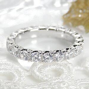 ジュエリー・アクセサリー・レディース・指輪・リング・プラチナ・ダイヤモンド・フルエタニティ・pt900・エタニティ・大粒・SI・2カラット・ダイアモンド・ダイア・ダイヤモンドリング