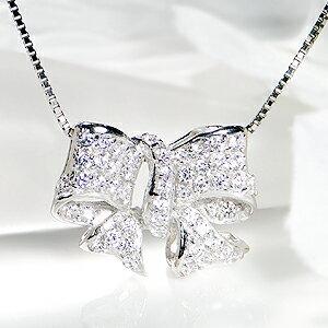 pt900【0.7ct】ダイヤモンドリボンパヴェリング