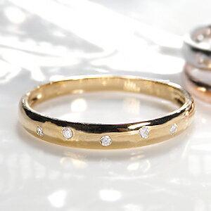 ファッション・ジュエリー・アクセサリー・レディース・指輪・イエローゴールド・ホワイトゴールド・ピンクゴールド・ゴールド・K18・ダイヤ リング・ダイヤモンド リング・ドット・水玉・送料無料・刻印無料・品質保証書付・4月・誕生石