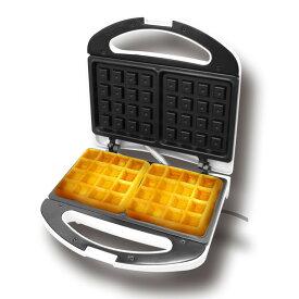 ワッフルメーカー 電気 カンタン 1度に2枚 コンパクト設計 調理家電 朝ごはん おやつ アレンジ 薄型 簡単 お手入れ くっつかない コスパ最高