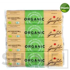 ガロファロ オーガニック スパゲッティ 500g x 8袋 パスタの太さは食べ応えのある 1.9mm