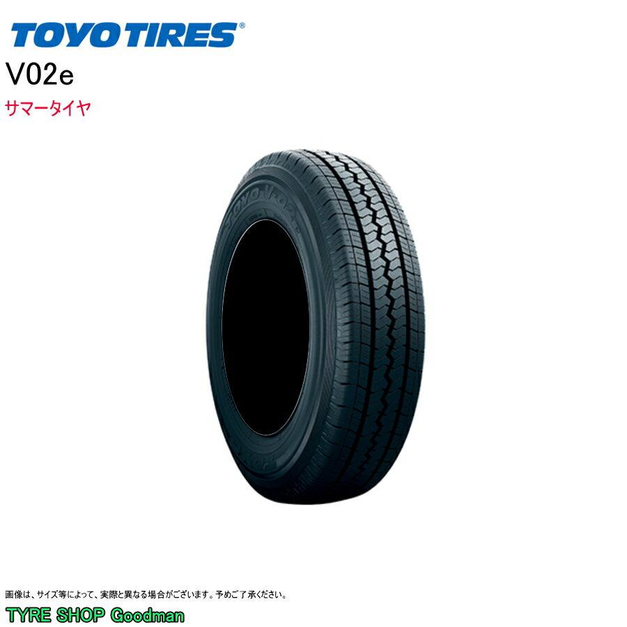 トーヨー 145R12 6PR V-02e サマータイヤ (バン用)(12インチ)(145-12-6)