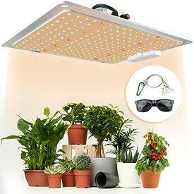 POLIWELL植物育成ライト 白色光1000W 218個LEDライト 植物ライト アマテラス サングラス付き 調光可能 超薄型 日照不足解消 室内栽培ランプ 120°調節 多肉植物育成 水耕栽培ランプ 家庭菜園