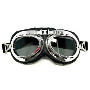 バイク用ゴーグル ダークグレーのPCレンズ 折り畳み メンズ サングラス 保護メガネ バイクゴーグル オートバイゴーグル レディース パンクゴーグル スキー用 防塵 防風 耐衝撃 UVカット