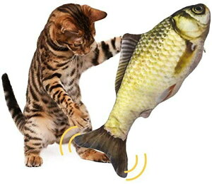 猫 おもちゃ 魚 GEEMEE 電動魚 ペットおもちゃ魚 ねこ用USB充電式噛む動ける魚 取り外して洗えるおもちゃの魚 インタラクティブ シミュレーション魚ストレス解消 猫グッズ 一人遊び