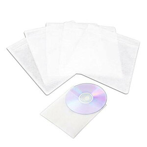 CD DVDケース100枚入 不織布 両面収納 2穴付 メディアケース プラケース 200枚収納可 整理 ファイル 透明色