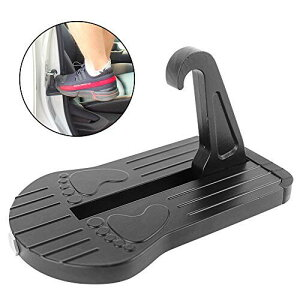 車用 ドアステップ クライミングペダル カー用品 便利グッズ 多機能 折りたたみ式 取り付け簡単 コンパクト 安全ハンマー機能付き JEEP/SUV/RVS/軽トラックなど適用 カーパーツ(黒)