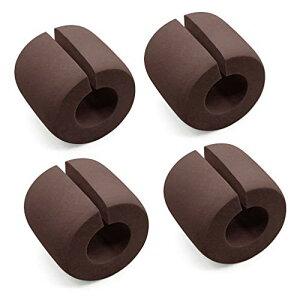 ドア ストッパー 4点セット 新型 ストップ クッション NBRゴム製 子供安全対策 指はさみ 防止 滑り止め 扉 引き戸 引き出し 環境にやさしい コーヒー