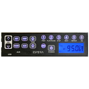 ESPERIA エスペリア USB端子 AUX端子付きAM/ワイドFM対応ステレオチューナー:KRH-M103W