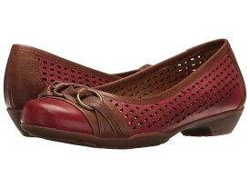 送料無料 Comfortiva コンフォーティヴァ レディース フラットシューズ 女性用 シューズ 靴 Comfortiva コンフォーティヴァ Posie Laser Softspots - Chili Red/Teak