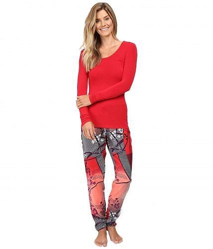 Josie ジョジー レディース 女性用 ファッション パジャマ 寝巻き Josie ジョジー Sparkle Fest Long Sleeve PJ - Red/Ivory