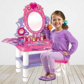 DimpleChild プリンセス Themed Vanity 女の子用 Set with 16 Fashion & メークポーチ 化粧品バッグ Accessories Flashing Lights by Dimple ドレッサー 女の子おもちゃ おしゃれ【送料無料】【代引不可】【あす楽不可】