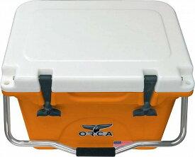 ORCA オルカ Hard Sided 20-Quart Cooler Orange/White アウトドア 釣り クーラーボックス【送料無料】【代引不可】【あす楽不可】