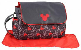 Disney ディズニー Micky Mouse Messenger ママバッグ Red/Grey ママバッグ【送料無料】【代引不可】【あす楽不可】