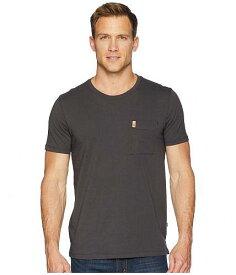 送料無料 Fjallraven フェールラーベン Tシャツ メンズ 男性用 ファッション Fjallraven フェールラーベン ?vik Pocket T-Shirt - Dark Grey