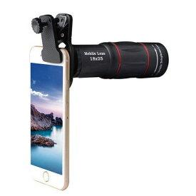 高画質 HD18X 望遠レンズ 三脚セット スマホレンズ iphone/Android その他 スマホ対応 送料無料