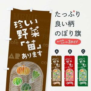 【ネコポス送料360】 のぼり旗 珍しい野菜「苗」ありますのぼり 01KT 西洋野菜 ヤサイ やさい