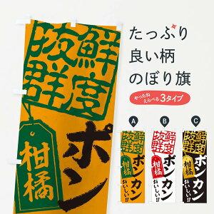 【ネコポス送料360】 のぼり旗 ポンカンのぼり 2XNR みかん・柑橘類