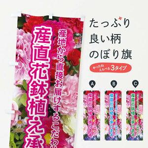 【ネコポス送料360】 のぼり旗 産直花鉢植え承りますのぼり EU0S フラワー 花各種