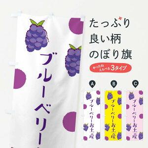 【ネコポス送料360】 のぼり旗 ブルーベリーお土産のぼり E6HY 果物