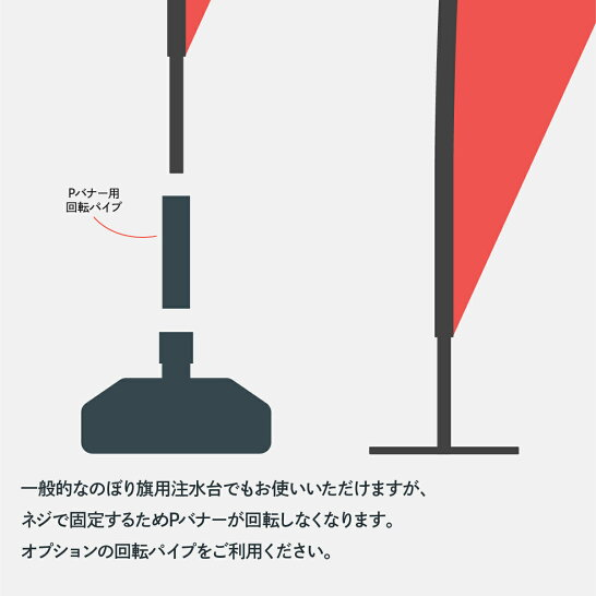 のぼり旗タピオカドリンクのぼりPバナー