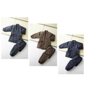 日本製お手入れ簡単作務衣 チャコールグレー Lサイズ