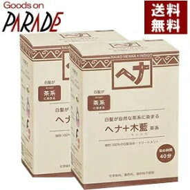 【2個セット】ヘナ+木藍 100g 茶系 ナイアード ヘナ [ 白髪染め モクラン ブラウン 茶色 ] 【新色】送料無料