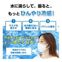 洗って繰り返し使える冷感マスク10枚セット