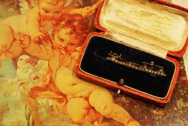 アンティークジュエリー 18ct sv ダイヤモンド ブローチ