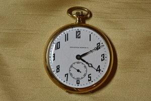 アンティーク 18ct TAVANNES WATCH CO 懐中時計 タバン