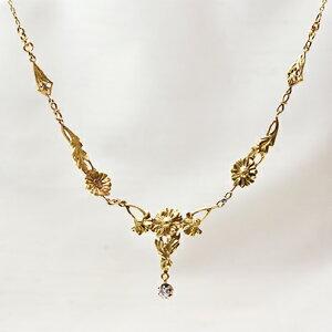 アンティークジュエリー 18ct ダイヤモンド ネックレス レディース 18金 鷲 女性