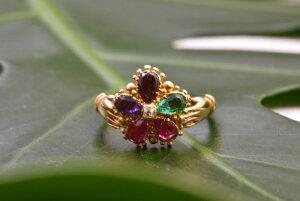 グッドウィル アンティーク ジュエリー Regard リング 指輪 エメラルド ガーネット アメジスト ピンクサファイア ダイヤモンド 装飾品