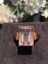 グッドウィル アンティーク ジュエリー18ct.アメシストインタリオ リング 指輪