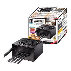玄人志向 KRPW-BK750W/85+ 750W PC電源 セミプラグイン/80PLUS BRONZE取得